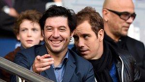 Sebastien Grosjean junto a Richard Gasquet