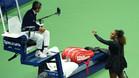 Serena Williams y el juez de silla, el portugués Carlos Ramos, durante su disputa en la final del US Open