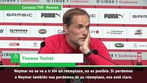 Tuchel: Neymar no se irá sin un reemplazo
