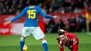 Valery debutó en Primera contra el Atlético de Madrid