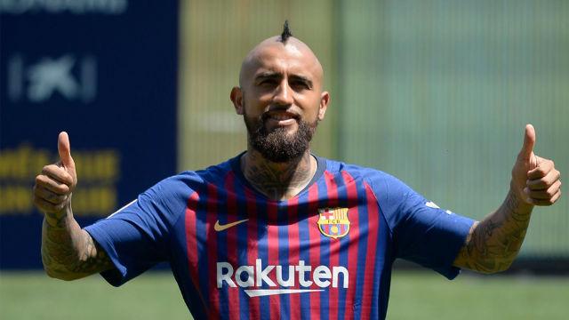 reputable site 6dac6 f9238 Arturo Vidal se mostró entusiasmado en el Camp Nou
