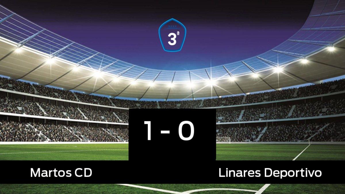 Victoria 1-0 del Martos frente al Linares Deportivo