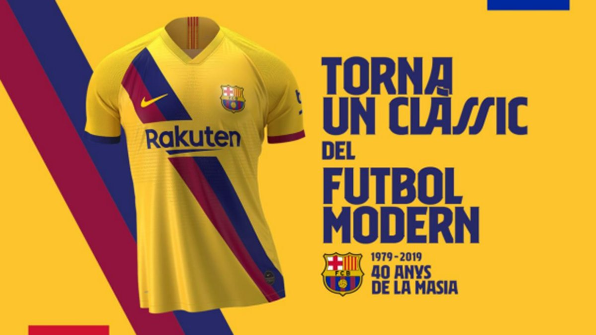 separation shoes 508bc b50c9 Here is Barça's new away shirt for 2019/20, in honour of La ...