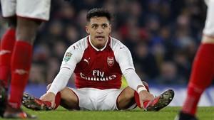 Alexis, en uno de sus últimos partidos en el Emirates Stadium