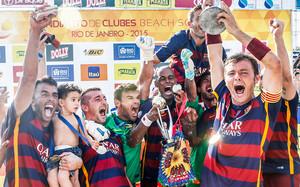El Barça de fútbol playa remonta un 4-1 y gana el Mundialito