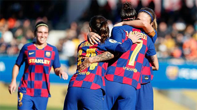El Barça sigue goleando en el Estadi Johan Cruyff