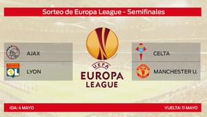 Celta - United y Ajax - Lyon en las semifinales de la Europa League