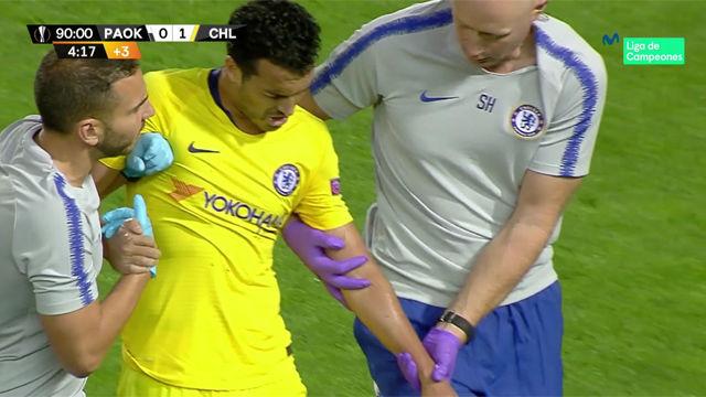 El choque de Pedro que le provocó una lesión en el hombro