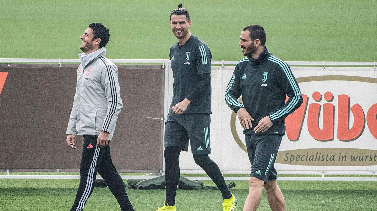 Cristiano Ronaldo ya entrena con la Juventus tras la cuarentena