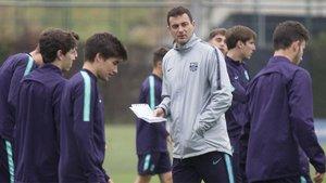 Denis Silva, entrenador del Juvenil A, en una imagen de archivo