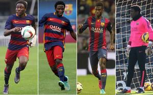 Dongou, Enguene, Bagnack y Ondoa han rescindido su contrato con el Barça este mes de enero