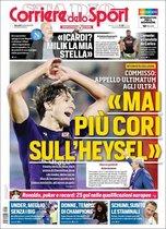 Esta es la portada de Corriere dello Sport de este 11 de septiembre