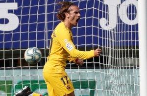 Griezmann marcó el gol que abrió el marcador ante el Eibar y cuajó una gran actuación