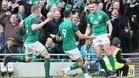 Irlanda celebra su éxito en el Seis Naciones