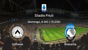 Jornada 10 de la Serie A: previa del encuentro Udinese - Atalanta