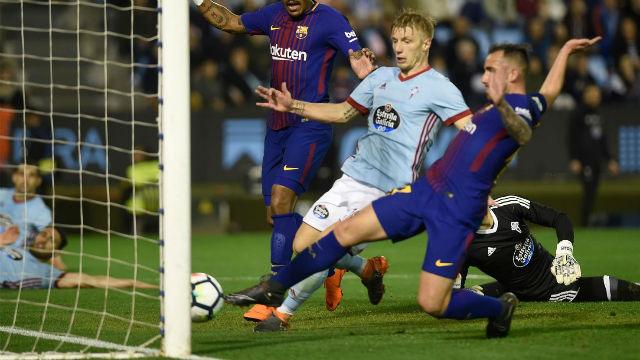 LALIGA | Celta - Barça (2-2): La imagen que demuestra que Alcácer marcó el 1-2