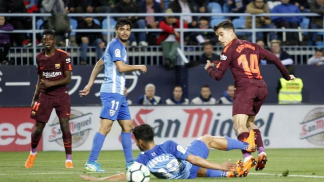 LALIGA | Málaga - FC Barcelona (0-2): El gol de tacón Coutinho