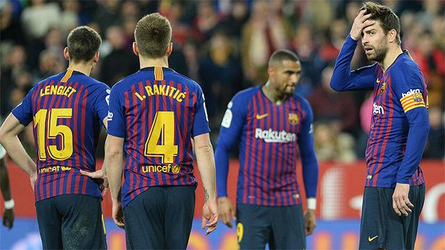 Las notas de los futbolistas del Barça tras la derrota en Sevilla
