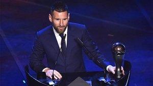 Leo Messi, durante la enterga del premio The Best de la FIFA el 23 de septiembre de 2019
