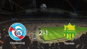 Los tres puntos se quedan en casa tras la victoria del Racing Estrasbrurgo frente al FC Nantes (2-1)