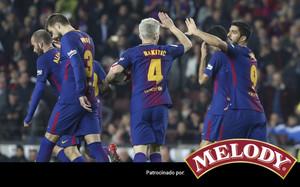 Luis Suárez abrió el marcador con un cabezazo