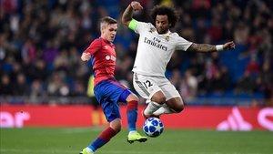 Marcelo no tuvo un feliz regreso al Santiago Bernabéu
