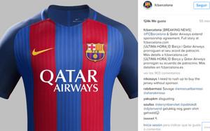 69a0d2fa327 Así será la camiseta del Barça 2016 17 con el logotipo de Qatar Airways