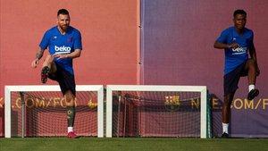 Messi y Ansu Fati conectan en el campo