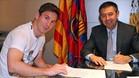 Messi firmó su último contrato en mayo de 2014