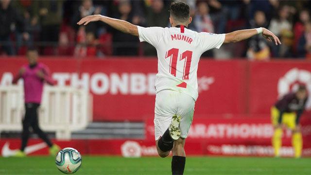 Munir empató momentáneamente al Villarreal con un golazo para enmarcar