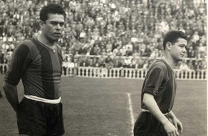 Olmedo, junto a Eulogio Martínez