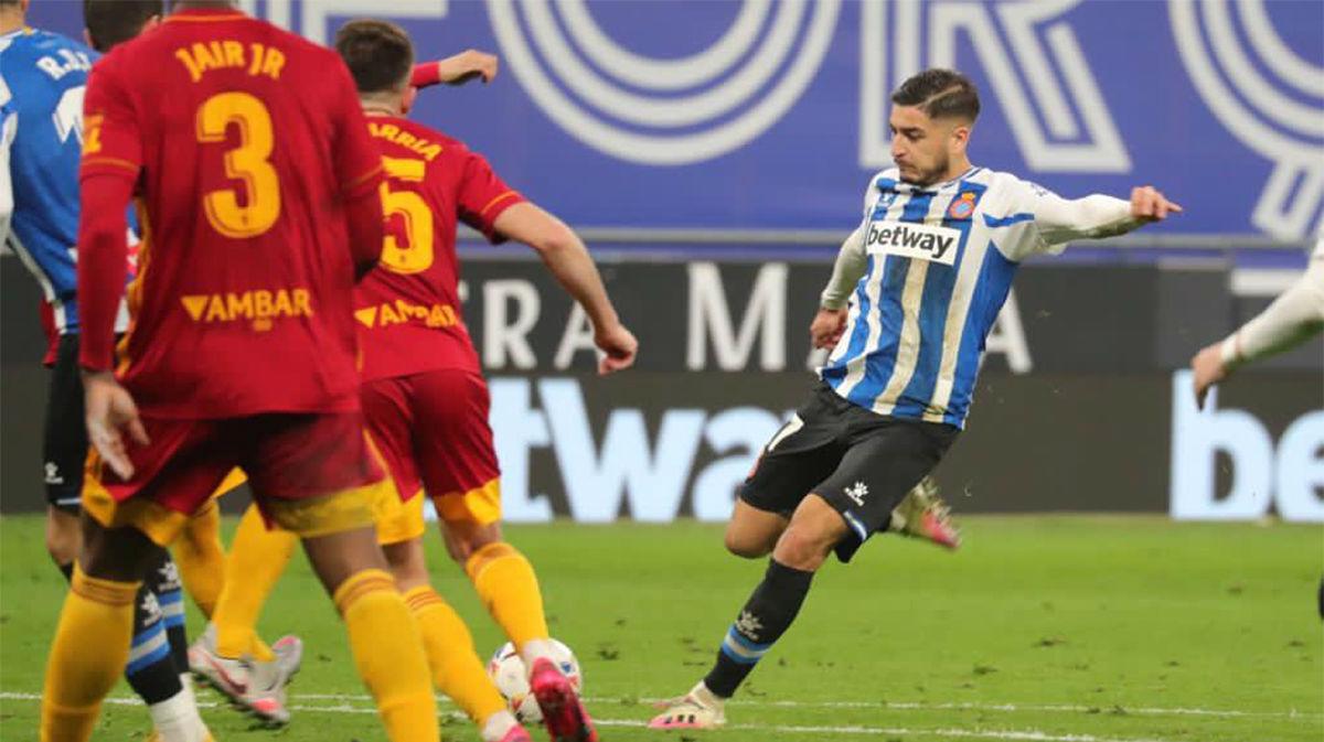 Óscar Gil anota su primer gol con la camiseta del Espanyol