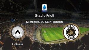 Previa del encuentro: el Udinese arranca el torneo jugando contra el Spezia Calcio