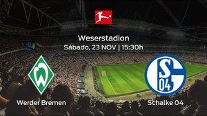 Previa del partido: el Werder Bremen recibe al Schalke 04 en la duodécima jornada
