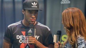 Rafinha, en un acto publicitario de la marca Adidas