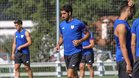 Raúl García en una sesión de entrenamiento con el Athletic