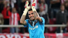 Roberto, portero del Olympiakos, es el gran objetivo del Espanyol
