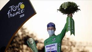Sam Bennett maillot verde del Tour 2020 y ganador de la última etapa en París
