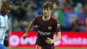 Sergi Roberto durante el duelo vs Málaga