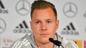 Ter Stegen, en rueda de prensa con la selección alemana