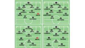 Valverde optará por un once u otro si puede o no contar con Iniesta