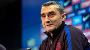 Valverde, en una imagen de archivo en rueda de prensa