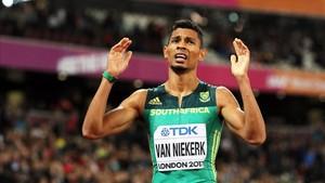 Van Niekerk ha sufrido una grave lesión de rodilla