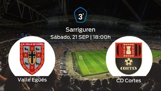Jornada 5 de la Tercera División: previa del duelo Valle Egüés - Cortes