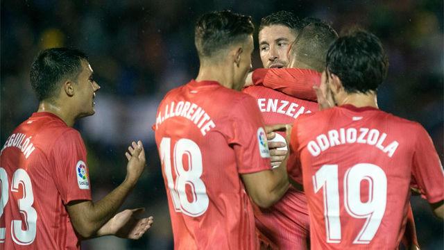 Benzema marcó el primer gol de la era Solari