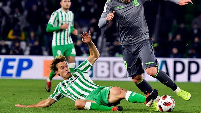 Betis y Real Sociedad no pasaron del empate a 0 en la ida de los Octavos