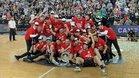 El Bilbao celebra el ascenso a la Liga ACB