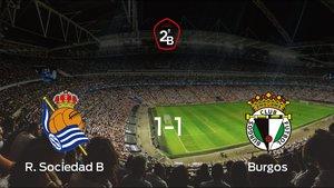 El Burgos saca un punto a la Real Sociedad B a domicilio 1-1