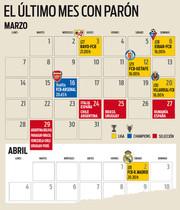 El calendario del FC Barcelona