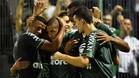 Chapecoense celebra el gol de Luiz Otavio